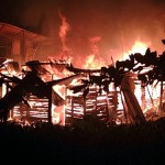 Early morning fire ravages 3 houses at Sister's Village