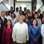 President Donald Ramotar and newly sworn in Cabinet Members
