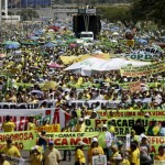 Brazilians protest against government corruption