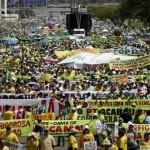 Brazilians protest against government corruption
