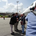 Jimmy Carter arrives in Guyana for Monday elections; US Embassy satisfied with elections preparations