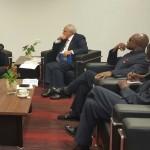 President meets UNASUR Secretary General and raises Venezuela's threats