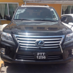 Police seize luxury Lexus with fake number plates