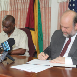 Guyana and US ink more support for fighting narco trafficking under CBSI