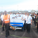 Aviation community give Hero's Welcome to fallen pilot, Captain Alvin Clarke