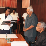 President cites Broomes' knowledge of mining and the hinterland as ideal for Natural Resources Ministry