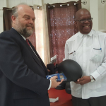GRA receives helmets and handcuffs from the US Embassy on its 16th Birthday