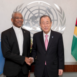 President Granger and UN Secretary General hold one on one talks in New York
