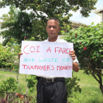 Benschop stages one man protest against Prison Unrest CoI