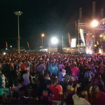 Persons treated for injuries after running from fight at stadium show