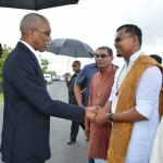 President takes message of national unity to Blairmont