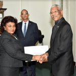 Justice Claudette Singh receives instrument of appointment as Senior Counsel