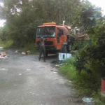 Cevon's Waste truck caught dumping sewage in Linden; Company says rogue driver to be blamed