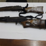 Two more high powered weapons found by Police; Two persons arrested