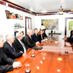 President meets with visiting Executives of ExxonMobil and makes clear Guyana's commitment to Oil and Gas sector development