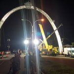 Installation of East Coast arch 90% completed; Remaining work to be done during off-peak period