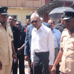 Govt. to examine appropriateness of prison in the centre of the city  – President says during tour of burnt out Camp St. jail