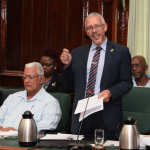 Business Minister unveils government's plans to improve doing business in Guyana, but receives criticism over his Ministry's performance