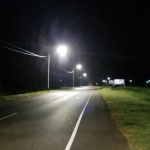 #19 Public Road in Corentyne gets lights for the first time