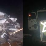 Driver dies as speeding car slams into door of parked truck along Linden/Soesdyke Highway