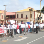 Sugar workers protest outside Parliament over severance and salaries