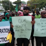 APNU+AFC Members and Supporters Picket GECOM for registration and claims and objections