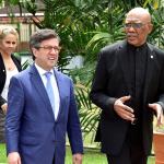 IDB President commends President Granger for leadership in preparing Guyana for Oil and Gas sector