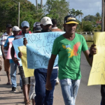 "Transferred Rose Hall sugar workers protest over ""harsh"" working conditions at Albion"