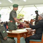 New GDF Officers receive Instruments of Commission