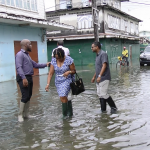 Mayor complains of indiscriminate dumping of garbage in city drains as floodwaters begin to recede