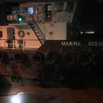 Tugboat Crew in Custody following crash at Demerara Harbour Bridge
