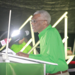 "Petroleum proceeds to benefit all Guyanese, ""not one cabal or one group of businessmen"" . -President assures"