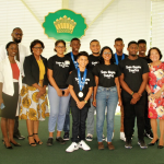 Award-winning Stem Guyana Team celebrated at State House