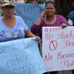 Group of protesters demand transparency in Guyana's sale of first oil