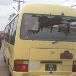 School bus attacked by protesters at Bath Settlement; Four children injured