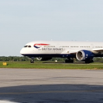 Exxon rotation workers arrive on British Airways Chartered Flight