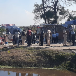 Standoff over squatting on Guysuco lands; Police fire teargas and pellets