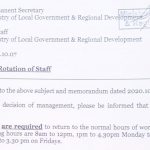 Government wants public servants to resume full time duties