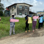 Families of suspects in Henry boys murder protest outside Blairmont Court
