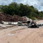 Still no trace of occupants or cargo of burnt plane found near Kwakwani
