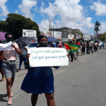 """Georgetown and Linden residents protest against """"forced"""" vaccinations"""