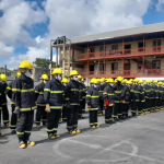 Fire Service observes 64th anniversary in compound of burnt down Brickdam Police station